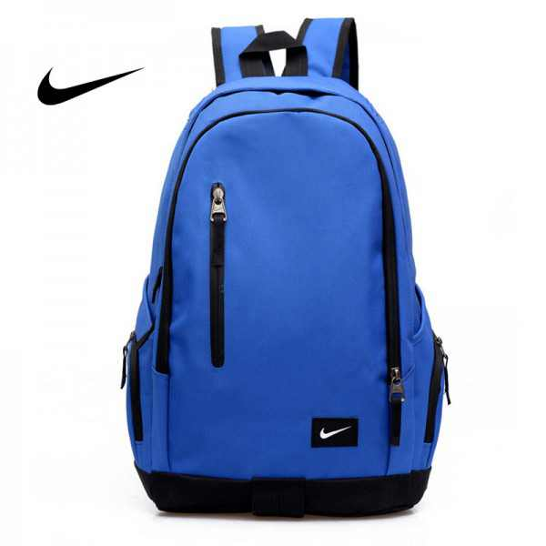 Nike 豎拉鏈款 雙肩包 後背包 運動包 旅行包 帆布包 藍色 寬30*厚16*高47