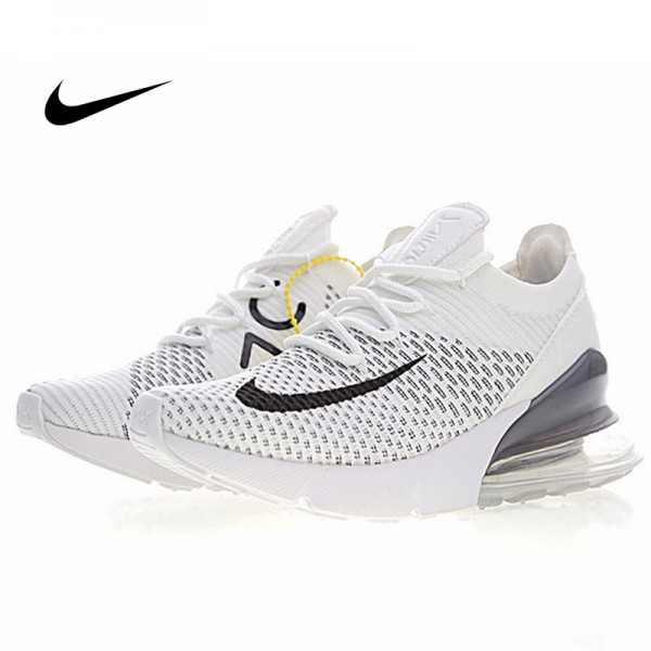 Nike Air 270 Flyknit 飛織 氣墊 慢跑鞋 白色 透氣 時尚百搭 AH8050-009
