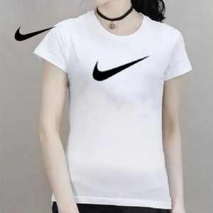 c179032b1eec6ad3 300x300 - NIKE 夏季新款 基礎 純棉T恤 女生 白色 黑勾 時尚百搭