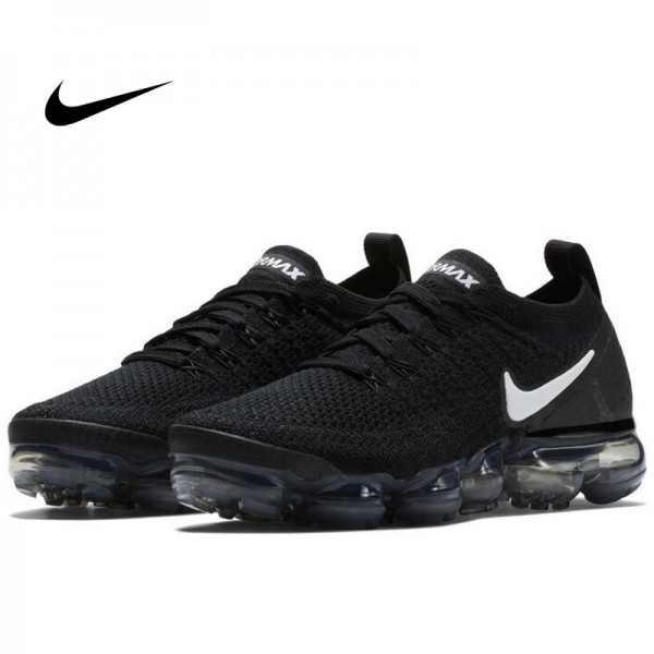 Nike Air VaporMax Flyknit 2.0 W 二代大氣墊 慢跑鞋 黑白 情侶款 休閒 百搭 942843-001