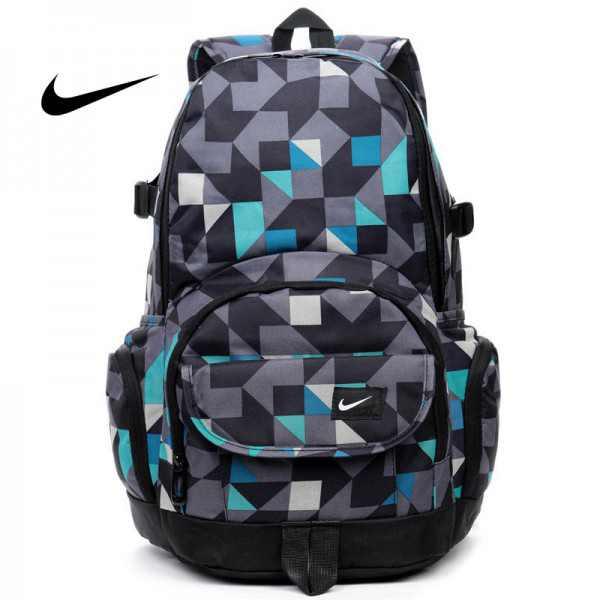 Nike 情侶款 雙肩包 幾何圖形 後背包 帆布 書包 學生包 寬33*高46*厚21