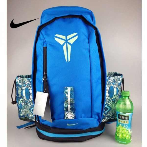 Nike Kobe 籃球包 大容量 雙肩包 旅行包 學生書包 鞋袋包 藍色 49*27*19