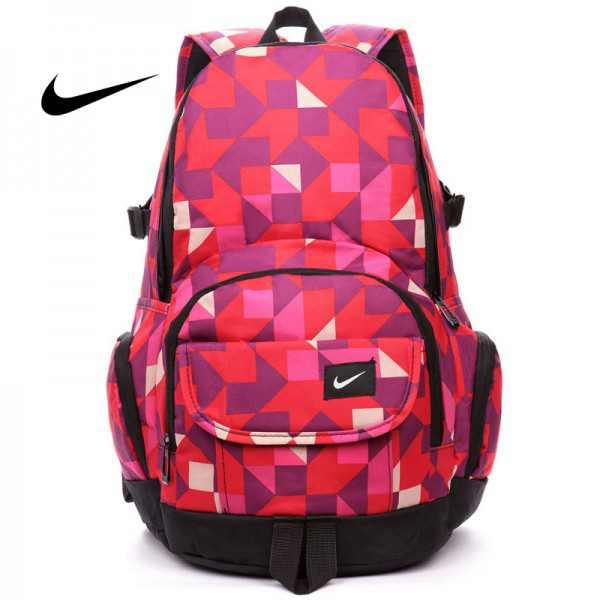 Nike 情侶款 雙肩包 幾何圖形 後背包 橙色 寬33*高46*厚21