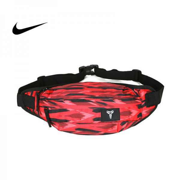 Nike Kobe腰包 騎行包 零錢包 胸包 斜挎包 紅色 時尚百搭NK-1641