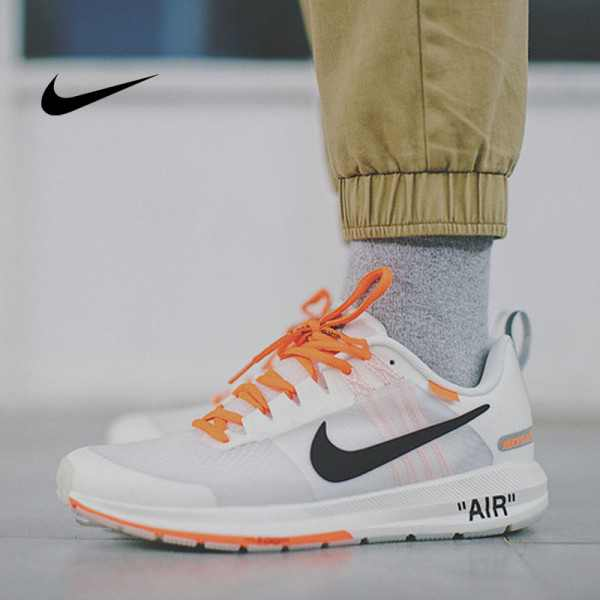 Virgil Abloh x Nike Air Zoom Structure 21 登月21代輕盈透氣慢跑鞋 OW白橘黑 男款 907324-006