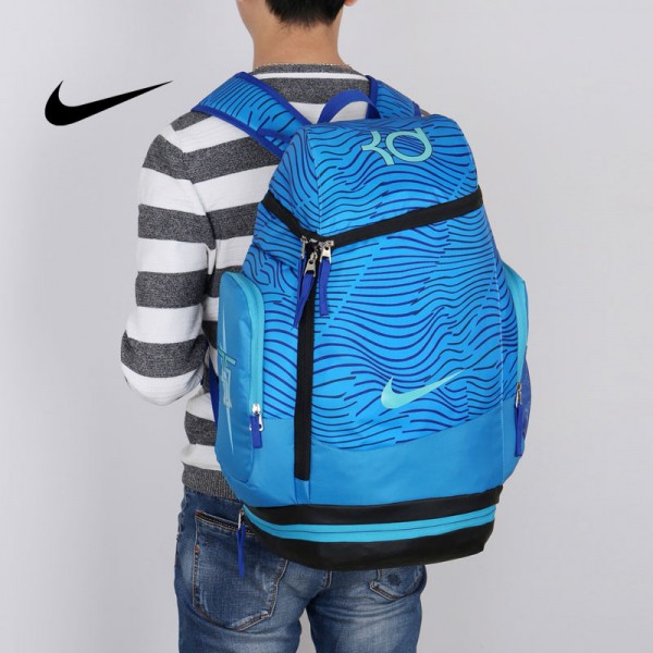 NIKE NBA35號 KD 大容量 雙肩包 水波紋 曲線 健身 籃球包 實用 寶藍色 寬32*高55*厚20