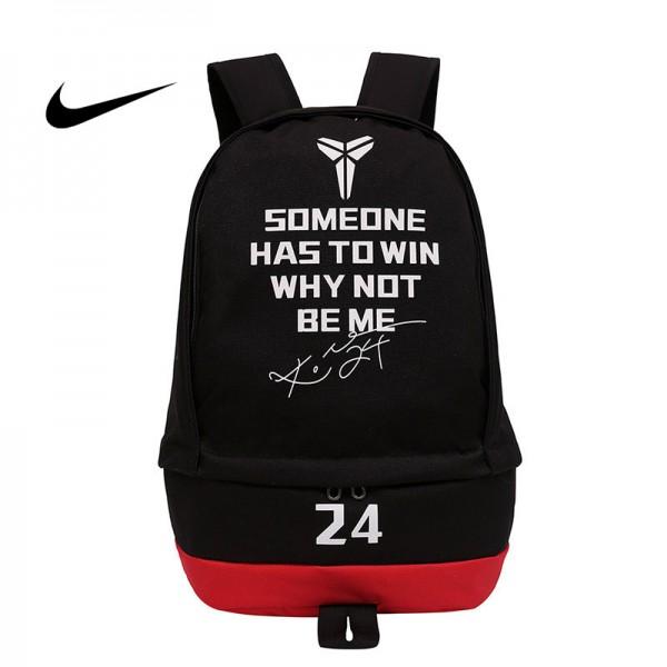 科比後背包 Nike 雙肩包 大容量 旅行包 學生書包 NBA球星款 黑色 50*32*19