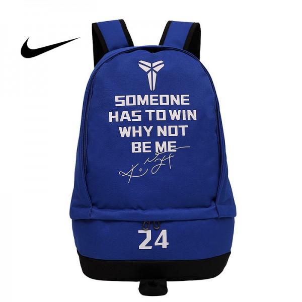 科比後背包 Nike 雙肩包 大容量 旅行包 學生書包 NBA球星款 藍色 50*32*19