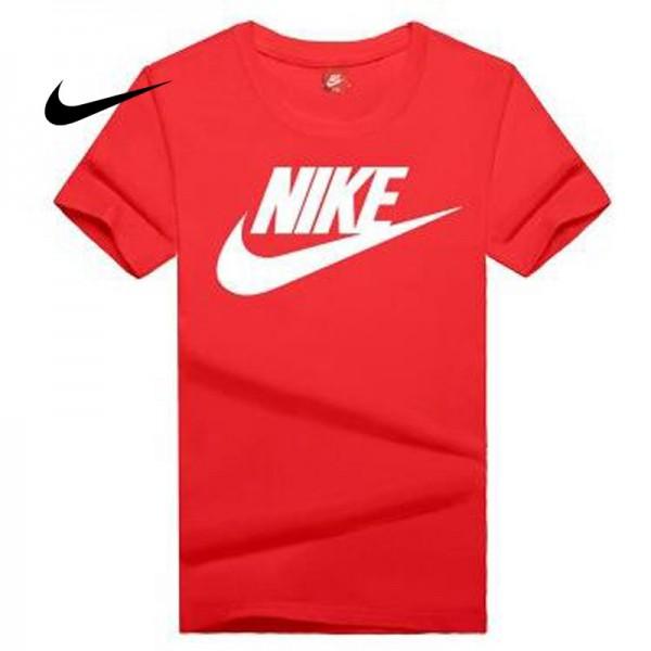 NIKE 情侶款 夏季新款 基礎 純棉T恤 男女款 紅白 經典 百搭