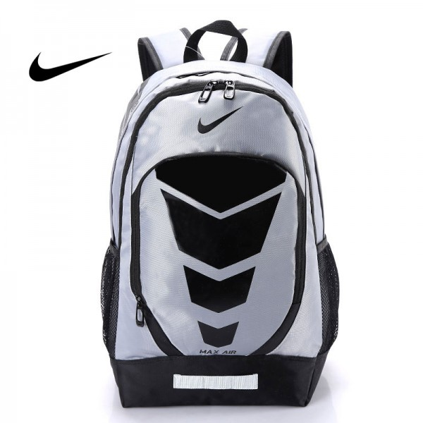Max Air Nike 雙肩包 學生書包 帆布電腦後背包 旅行包 灰色 NK-0431