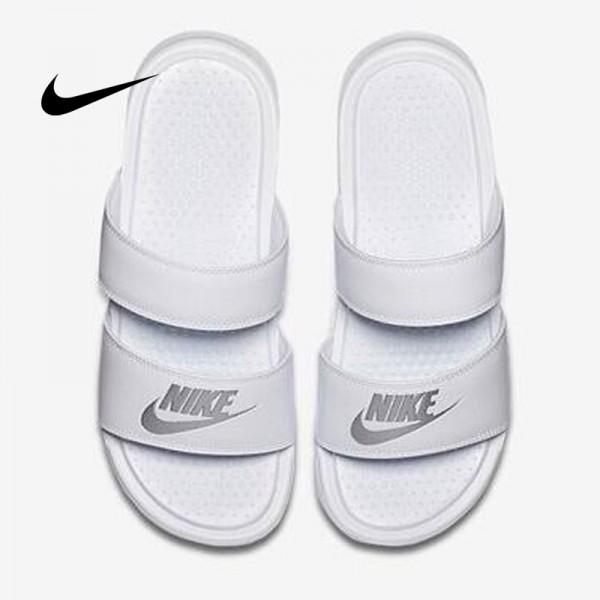Nike Benassi Duo Ultra Slide雙帶潮流拖鞋 白色 沙灘拖鞋 防滑 時尚百搭 819717-100