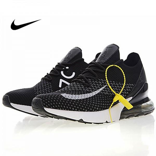 Nike Air 270 Flyknit 飛織 氣墊 慢跑鞋 黑白奧利奧 情侶款 休閒 百搭 AH8050-015
