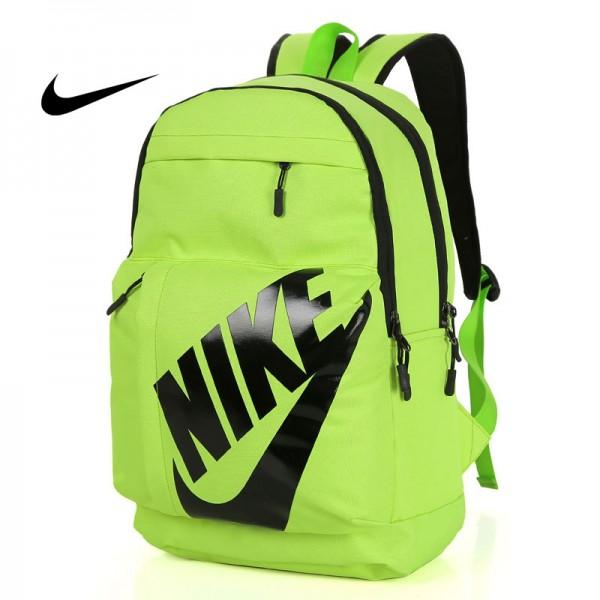 NIKE 大LOGO 雙肩包 情侶後背包 學生書包 旅行包 潮流包 綠色 45*2-*15