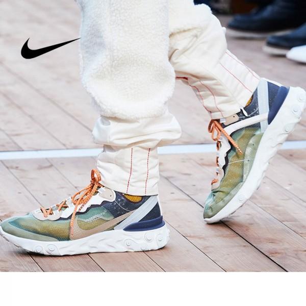 UNDERCOVER x Nike Upcoming React Element 87 半透明 前衛 慢跑鞋 米白深藍 情侶款 時尚 百搭 AQ1813-343