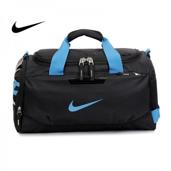 Nike 手提包 旅遊包 大容量 健身包 黑藍 時尚 帆布 寬52*高30*厚24