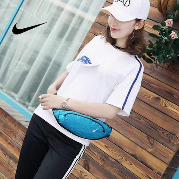 Nike 腰包 騎行包 零錢包 胸包 斜挎包 天藍色 時尚百搭NK-1641
