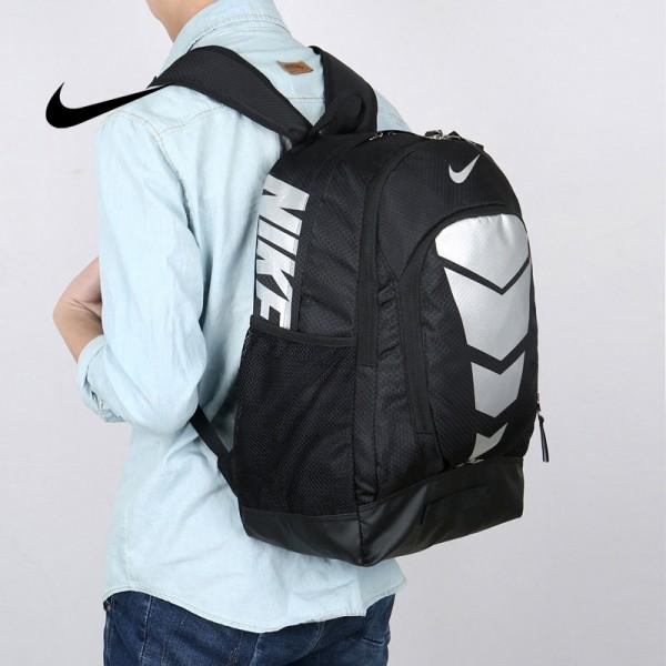 Max Air Nike 雙肩包 學生書包 帆布電腦後背包 旅行包 黑銀色