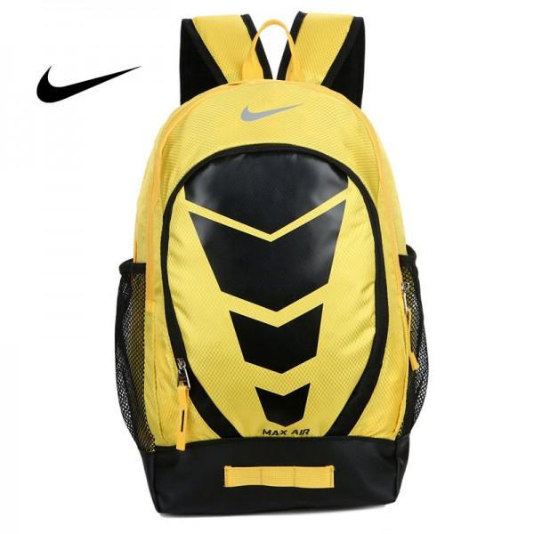 Max Air Nike 雙肩包 學生書包 帆布電腦後背包 旅行包 黃色