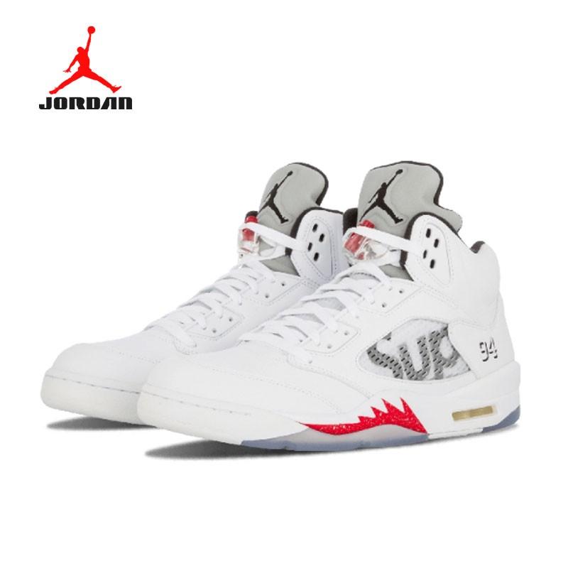 Air Jordan 5 Retro Supreme 聯名款 824371 101 白灰 流川楓 男款 籃球鞋