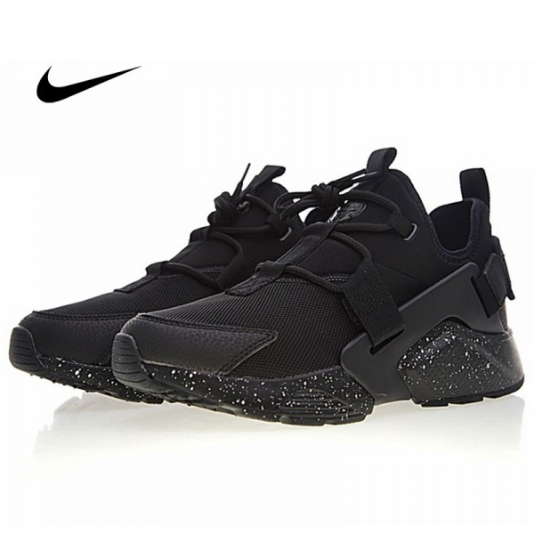 Nike Air Huarache City Low 華萊士 黑武士 城市 機能 百搭 男款慢跑鞋 全黑白噴墨 AH6804-009