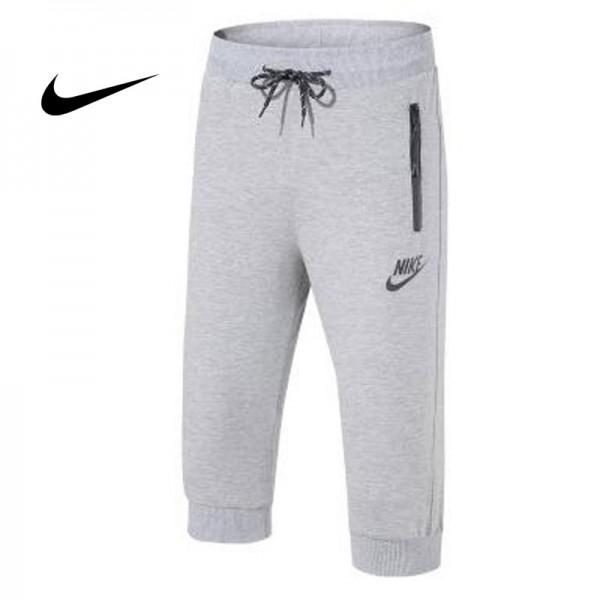 Nike 經典 男款 束口束腳褲 七分褲 運動短褲 灰色 時尚百搭