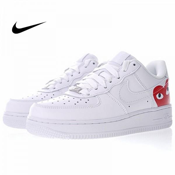 川久保玲COMME des GAR?ONS PLAY x Nike Air Force 1 Low Retro聯名款 白色 情侶款 經典 休閒鞋 315115-112