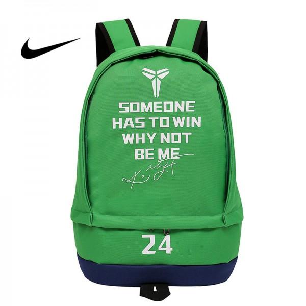 科比後背包 Nike 雙肩包 大容量 旅行包 學生書包 NBA球星款 綠色 50*32*19