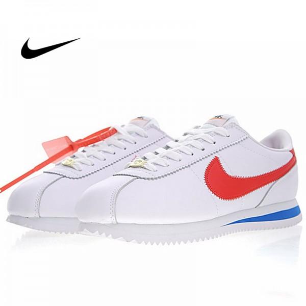 Off white x Nike Classic Cortez Leather聯名款 白藍紅 情侶款 運動 時尚百搭 815653-015