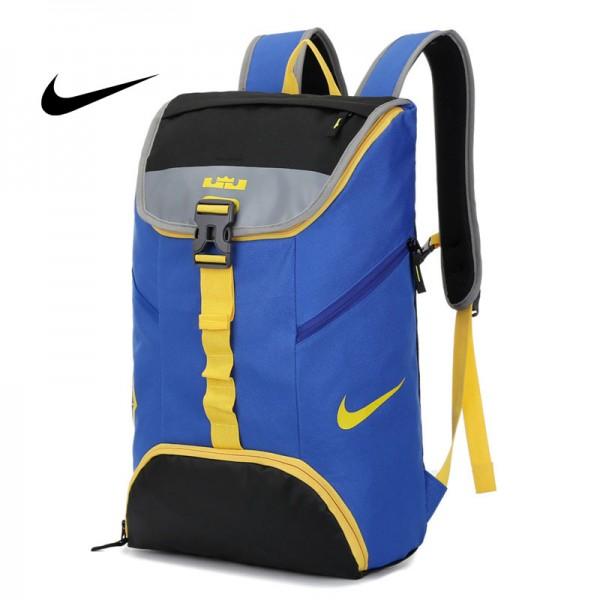 NIKE NBA 球星款 詹姆斯後背包 雙肩包 籃球包 旅行包 藍色 防水 時尚百搭 54*35*14