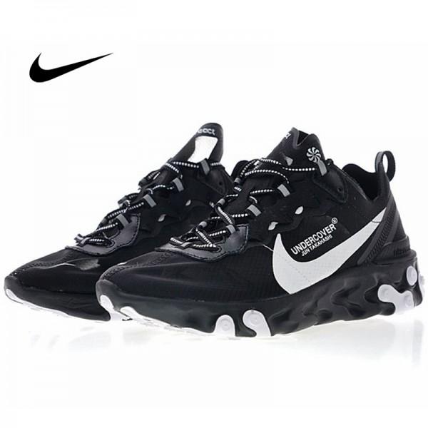 UNDERCOVER x Nike Upcoming React Element 87 半透明 前衛 慢跑鞋 黑白 情侶款 休閒 百搭 AQ1813-001