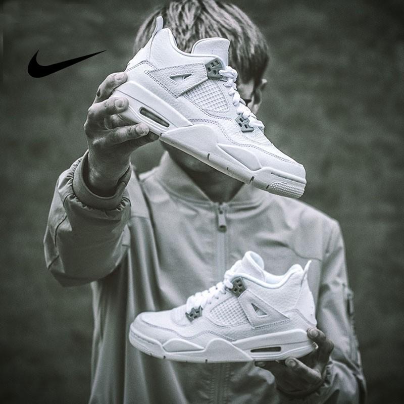Nike Air Jordan 4 Retro AJ4 白銀 運動 休閑 籃球鞋 男款 308497 100