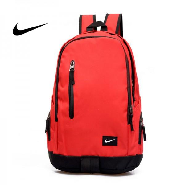Nike 豎拉鏈款 雙肩包 運動包 旅行包 帆布包 紅色 時尚百搭 寬30*厚16*高47