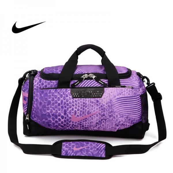Nike 手提包 旅遊包 大容量 健身包 紫色 時尚 百搭 寬52*高30*厚24