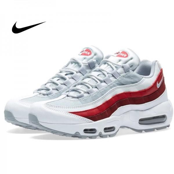 Nike Air Max 95 Essential 白灰紅 男鞋 氣墊慢跑鞋 時尚 百搭 749766-103