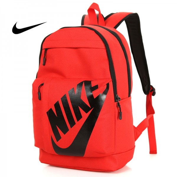 NIKE 大LOGO 雙肩包 男女 情侶後背包 學生書包 旅行包 潮流包 紅色 45*2-*15