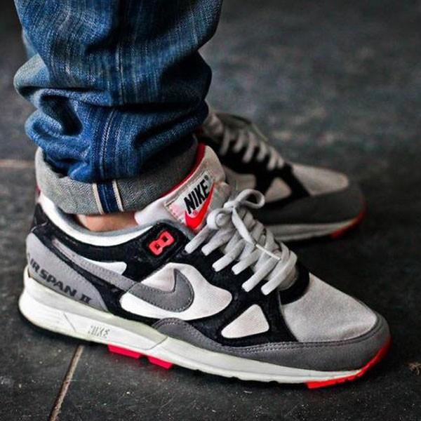 Nike Air Span 2 男款 跑步鞋 黑白灰 休閒運動鞋 潮流 新品-限時特賣❤️