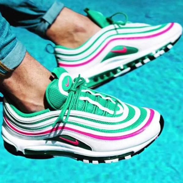 Nike Air Max 97 南海岸 情侶款 白綠色 全掌氣墊慢跑鞋 新品-秒殺款❤️