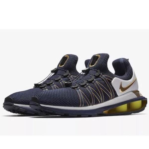 Nike Shox Gravity 男款 跑步鞋 深藍黃 運動鞋 休閒 時尚 百搭-熱銷推薦❤️