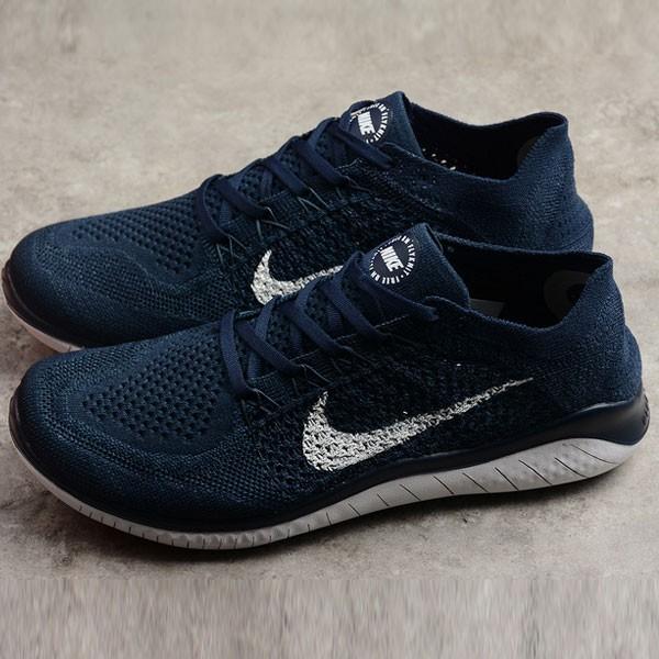 Nike Free Run 2018 男款 針織 休閑慢跑鞋 深藍色 時尚 百搭-限時特賣❤️