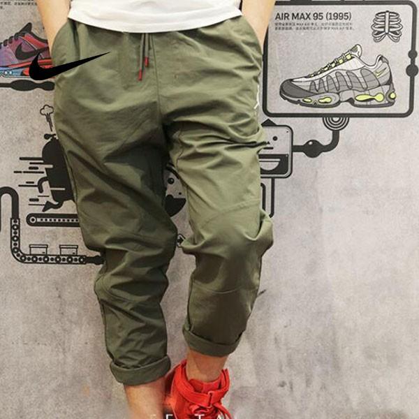 Air Jordan 男子 梭織 籃球褲 休閑 運動長褲 軍綠色 時尚 百搭-超級人氣❤️