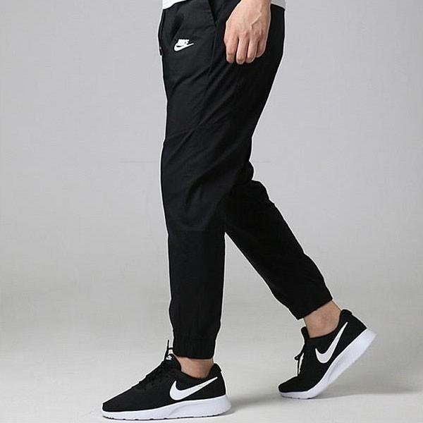 NIKE 運動褲 速幹 梭織 休閑 長褲 束腳褲 黑色 百搭-新品駕到❤️