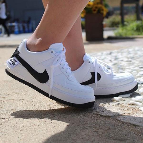Nike Air Force 輕量 厚底增高 低幫 百搭 板鞋 女生 白色-熱銷NO1❤️
