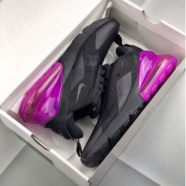 Nike Air Max 270 網面 半掌氣墊跑步鞋 黑色 女鞋 透氣 舒適-熱銷推薦❤️