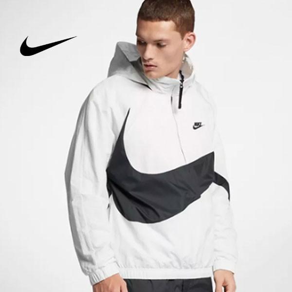 Nike 大鉤 街舞同款 半拉鏈 男款 運動夾克 白色 休閒 百搭-熱銷推薦❤️
