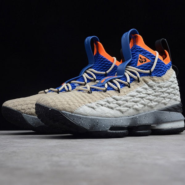 Nike LeBron 15 氣墊籃球鞋 卡其灰 男款 運動 休閒 耐磨-熱銷推薦❤️