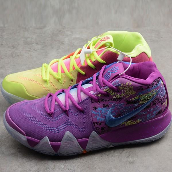 Nike Kyrie 4 歐文4代 綠紫鴛鴦籃球鞋 運動 時尚 耐磨 舒適 男款-熱銷推薦❤️