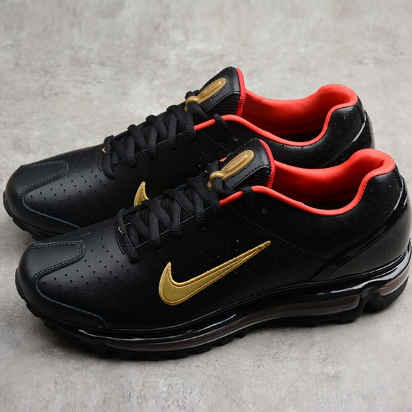 Nike Air Max 2003皮面黑金色 男鞋 全掌氣墊慢跑鞋 舒適-限時特賣❤️