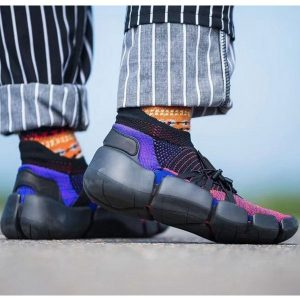 64ca2cbea58a5fd3 300x300 - Nike Footscape Flyknit DM 飛織 機能 忍者襪子鞋 黑粉藍 新品-獨家發售❤️
