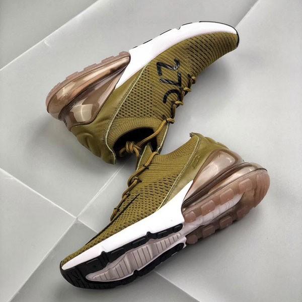 Nike Air Max 270 網面 半掌氣墊跑步鞋 軍綠色 運動 男款-限時特賣❤️