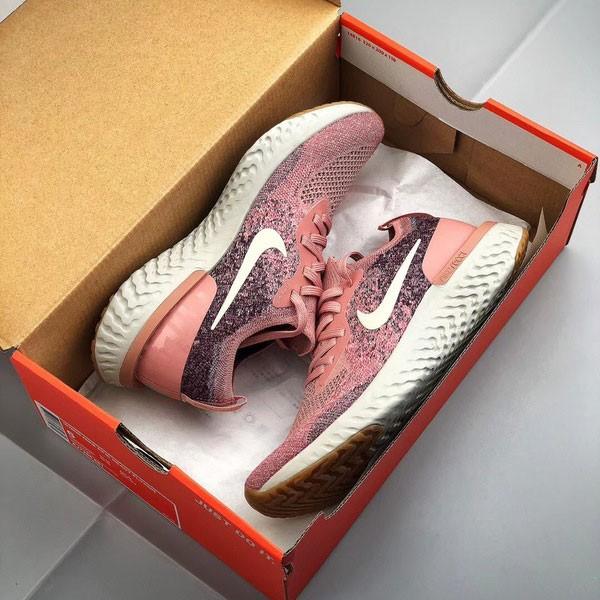 Nike Epic React Flyknit 泡棉顆粒針織超輕量慢跑鞋 女鞋 粉色 飛線-超熱賣🔥